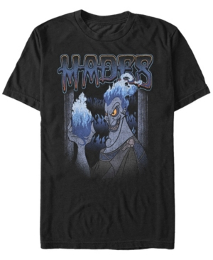 Disney Men's Vintage Hades Strong Pose Flame on Short Sleeve T-Shirt
