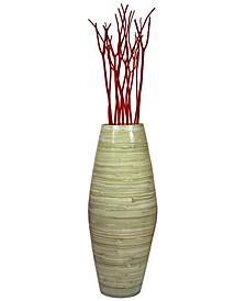 "Bamboo Floor Vase, 27.5"" Tall"