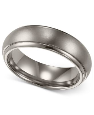 Triton Mens Titanium Ring Comfort Fit Wedding Band 6mm Rings