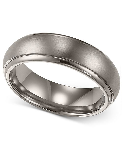 Mens Wedding Bands Titanium.Men S Titanium Ring Comfort Fit Wedding Band 6mm