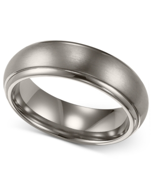 Triton Men's Titanium Ring, Comfort Fit Wedding Band (6mm)
