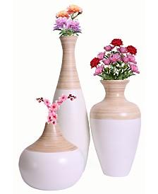 Spun Bamboo Vase Collection