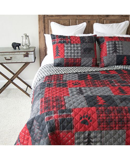 American Heritage Textiles Red Forest Quilt Collection