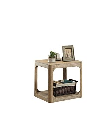 Benzara Wooden End Table with Lower Shelf