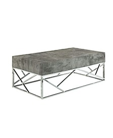 Faux Marble Coffee Table with Rectangular Top