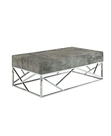 Benzara Faux Marble Coffee Table with Rectangular Top