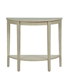 Benzara Wooden Console Table with Bottom Shelf
