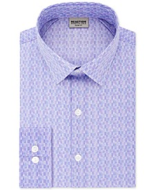 Men's Slim-Fit All Day Flex Performance Stretch Geo Dot-Print Dress Shirt