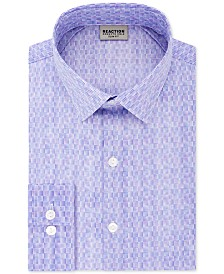 Kenneth Cole Reaction Men's Slim-Fit All Day Flex Performance Stretch Geo Dot-Print Dress Shirt