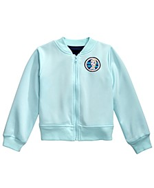 Little Girls Elsa Bomber Jacket