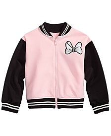 Little Girls Minnie Mouse Bomber Jacket