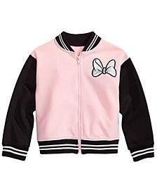 Disney Little Girls Minnie Mouse Bomber Jacket