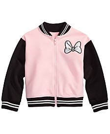 Disney Little Girls Minnie Mouse Bomber Jacket
