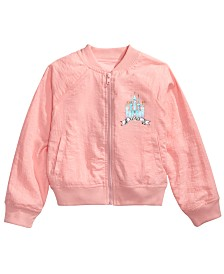 Disney Little Girls Princess Girls Club Forever Bomber Jacket