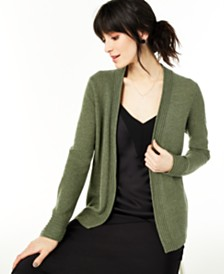 Charter Club Open-Front Cashmere Cardigan, Regular & Petite Sizes, Created for Macy's