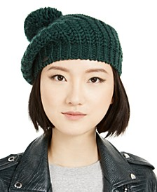 Knit Beret with Pom