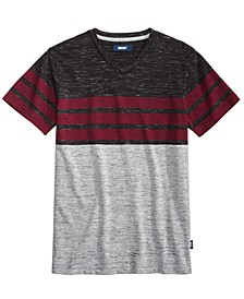 Big Boys Valle Colorblocked Stripe V-Neck T-Shirt