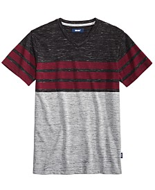 Univibe Big Boys Valle Colorblocked Stripe V-Neck T-Shirt