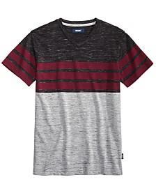 Univibe Big Boys Valle Colorblocked Stripe V-Neck T-Shirt