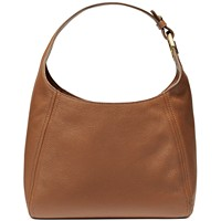 MICHAEL Michael Kors Fulton Large Leather Hobo (Luggage/Gold)
