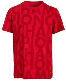 Champion Big Boys Cotton Printed T-Shirt