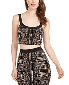 Kingdom Stripe Animal Print Mirage Top