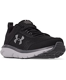 Under Armour Boys Assert 8 Wide Width Athletic Training Sneakers from Finish Line