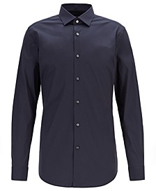 BOSS Men's Henning Travel Line Extra-Slim-Fit Stretch Poplin Shirt