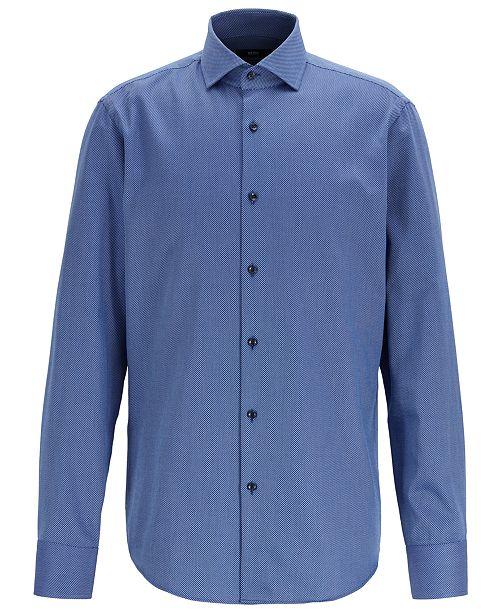 Hugo Boss BOSS Men's Gordon Regular-Fit Two-Colored Cotton Twill Shirt