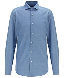 BOSS Men's Jason Slim-Fit Virgin Wool Shirt