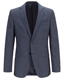 BOSS Men's Slim-Fit Checked Jacket