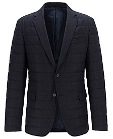 BOSS Men's Havon Slim-Fit Quilted Blazer