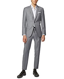 BOSS Men's Hartlay Slim-Fit Melange Virgin Wool Jacket