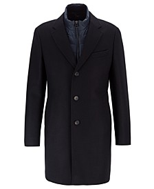 BOSS Men's Nadim Slim-Fit Coat With Detachable Inner Bib