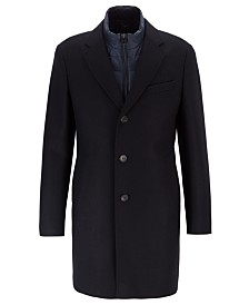 BOSS Men's Nadim Slim-Fit Coat With Detachable Inner Bib