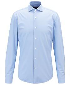 BOSS Men's Slim-Fit Italian Performance-Stretch Shirt
