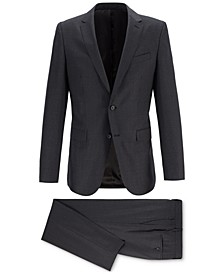 BOSS Men's Slim-Fit Novan Patterned Merino Wool Suit