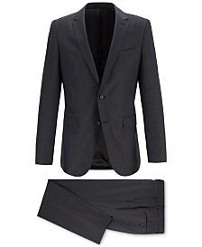 BOSS Men's Slim-Fit Novan Patterned Merino Wool Suit