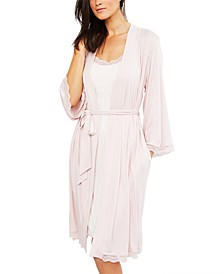 Lace-Trim Nursing Nightgown