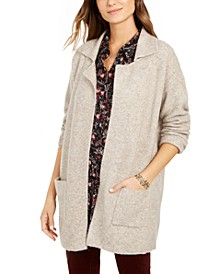 Petite Oversized Patch-Pocket Cardigan, Created For Macy's