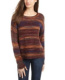 Juniors' Striped Pullover Sweater