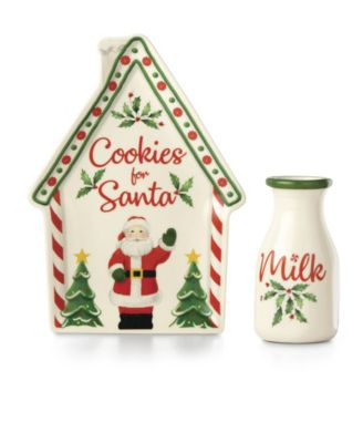 Cookies and Milk for Santa, 2 piece set