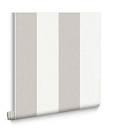 Graham Brown Calico Stripe Grey Wallpaper