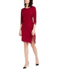 NY Collection Petite Embellished Side-Slit Dress