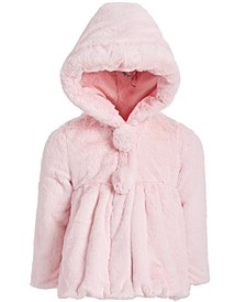 Little Girls Hooded Teddy Plush Faux-Fur Jacket