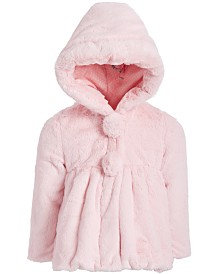 S Rothschild & CO Little Girls Hooded Teddy Plush Faux-Fur Jacket