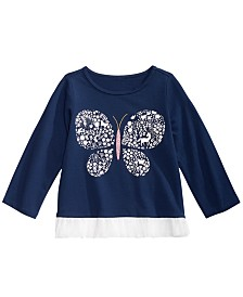 First Impressions Toddler Girls Cotton Butterfly T-Shirt, Created for Macy's