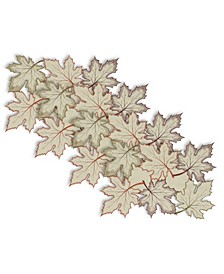 Embroidered Leaves Placemat Set
