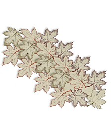 Design Imports Embroidered Leaves Placemat Set