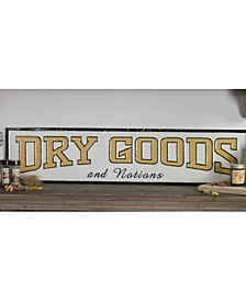 "VIP Home International Metal ""Dry Goods"" Sign"